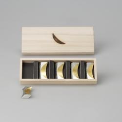 51171 箸置き「月」 金箔